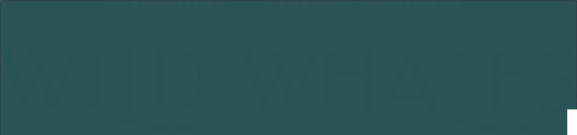 Wild Whales logo - green