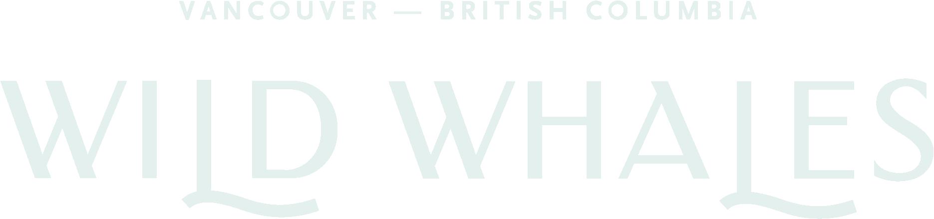 Wild Whales logo - white